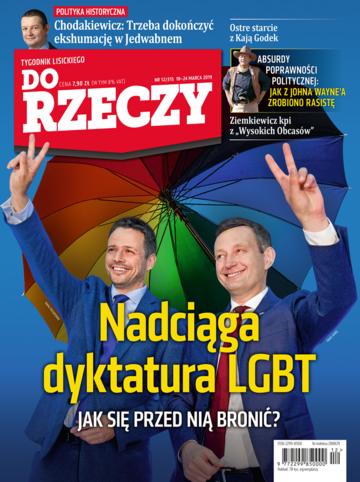 Okładka tygodnika DoRzeczy nr 12/2019 (315)