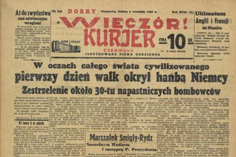 """""""Dobry Wieczór! Kurjer Czerwony"""", 2 września Warszawski dziennik informuje o polskich sukcesach. Niestety na wyrost."""